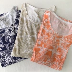 Coral Bay Tee Shirts, Bundle of 3, Size 3 X